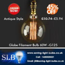 Globe Filament Bulb 60W -G125