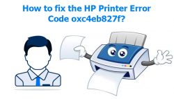 How to fix the HP Printer Error Code oxc4eb827f?