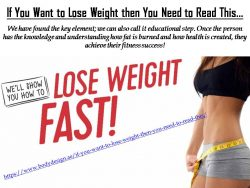If You Want to Lose Weight then You Need to Read This…