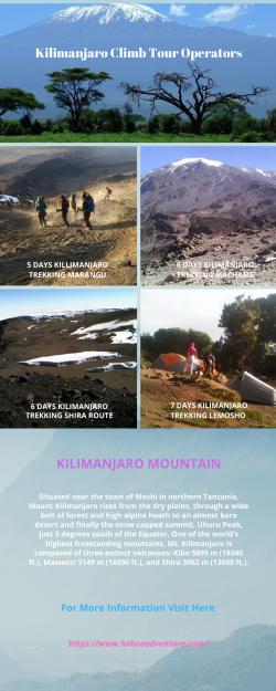 Kilimanjaro Climb Tour Operators
