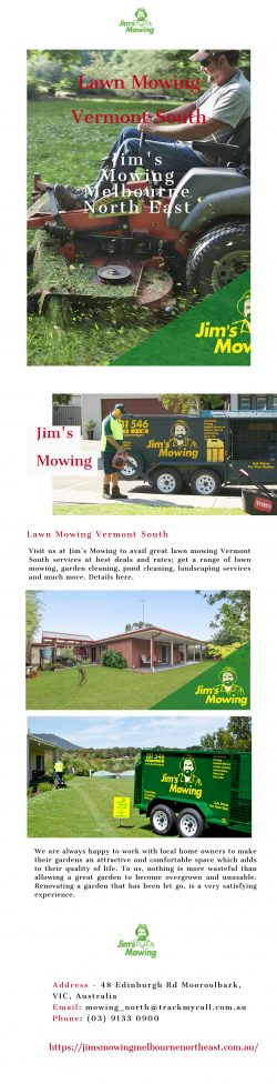 Looking for Lawn Mowing Vermont South at Best Deals | Jim's Mowing Melbourne North East