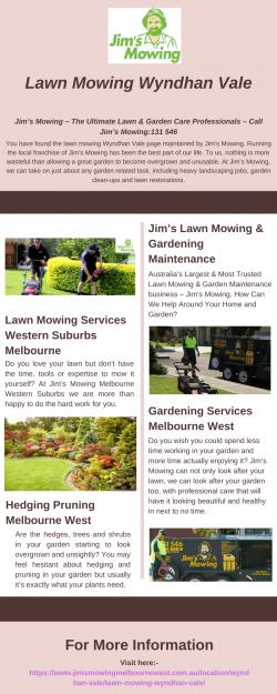 Lawn Mowing Wyndhan Vale