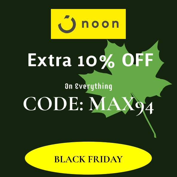 Noon Discount Code: Extra 10% discount on everything.
