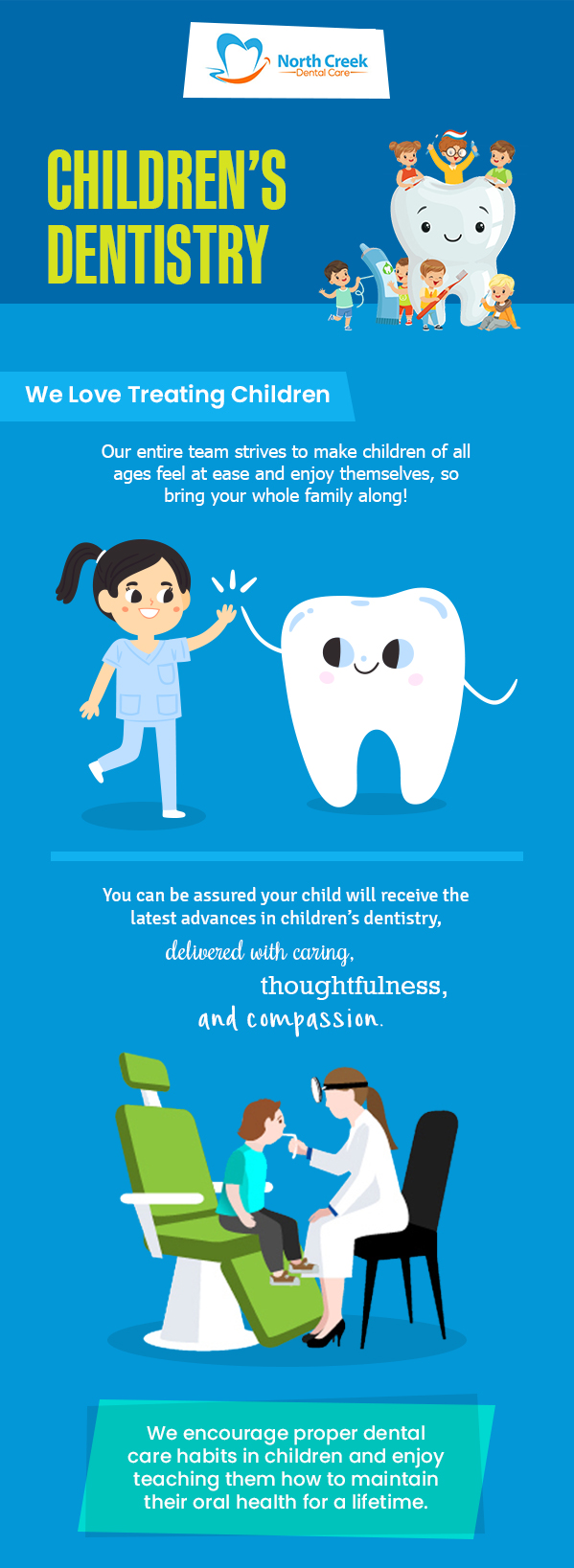 Choose North Creek Dental Care for Children's Dentistry Services in Tinley Park, IL