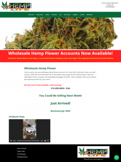 Wholesale hemp flower