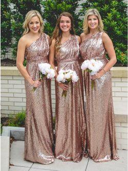 Elegante Brautjungfernkleider Rosa Gold | Kleider für Brautjungfer