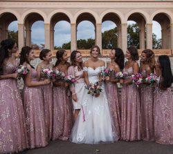 Designer Brautjungfernkleider Lang Rosa | Spitze Kleider Für Brautjungfer