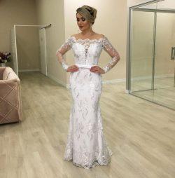 Elegante Brautkleider Meerjungfrau | Hochzeitskleider mit Ärmel Online