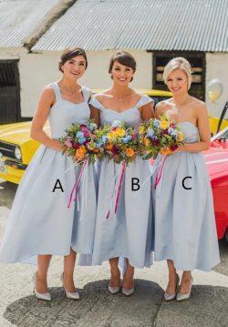 Heller Blau Brautjungfernkleider Günstig | Kleider Kurz Brautjungfern