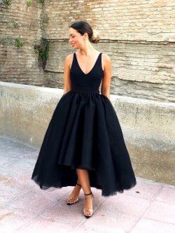 Fashion Schwarz Abendkleider Kurz | Cocktailkleider Günstig Online