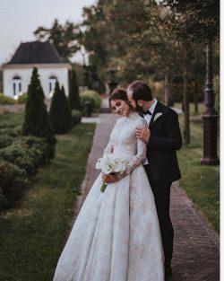 Designer Brautkleider mit Ärmel | Winter Hochzeitskleider A Linie