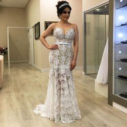 Schlichte Brautkleider Meerjungfrau | Spitze Hochzeitskleider Online