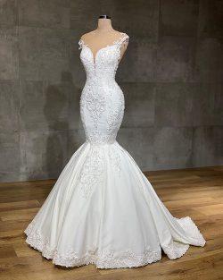 Designer Brautkleider Meerjungfrau | Hochzeitskleider mit Spittze Online
