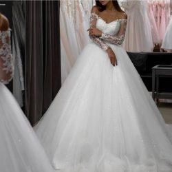 Modern Brautkleider A Linie | Hochzeitskleider mit Ärmel