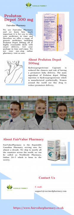 Buy Proluton Depot 500 mg at Reasonable Rates | Fairvalue Pharmacy