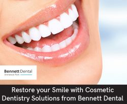 Restore your Smile with Cosmetic Dentistry Solutions from Bennett Dental