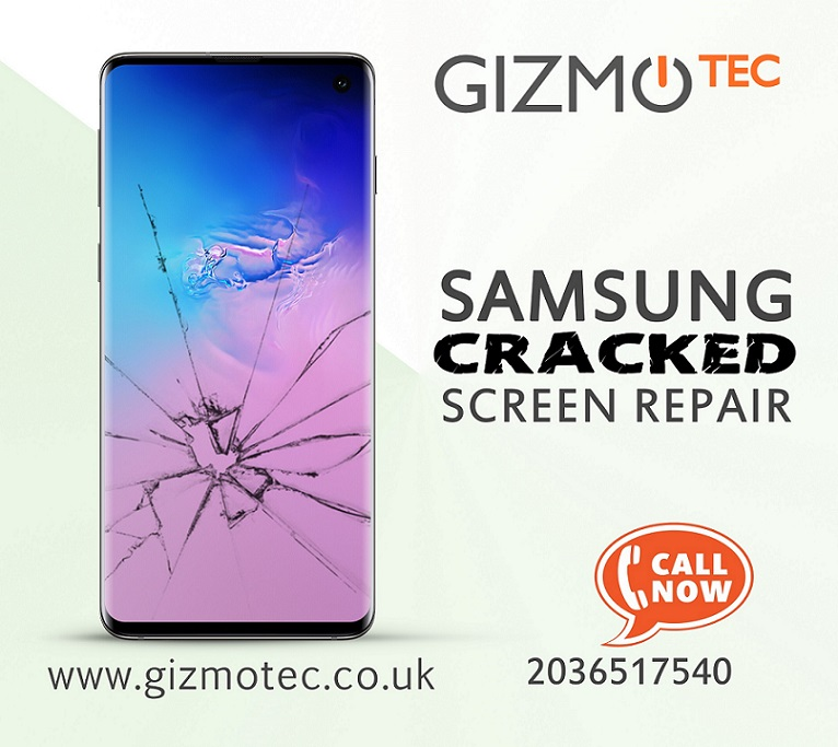 Samsung Cracked Screen Repair at Gizmotec Ltd
