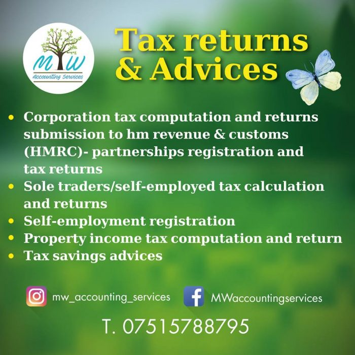 Tax services bracknell | MW Accounting Services