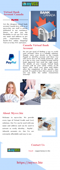 Get Best Virtual Bank Account Canada | Myvcc.biz