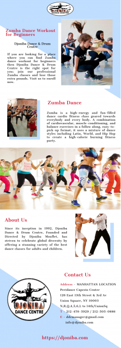 Get Affordable Zumba Dance Workout for Beginners | Djoniba Dance & Drum Centre