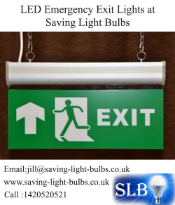 LED Emergency Exit Lights at Saving Light Bulbs