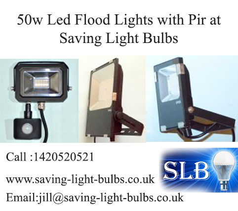 50w Led Flood Lights with Pir at Saving Light Bulbs