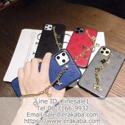 ルイヴィトン LV アイフォン11ケース モノグラム 持ちベルト チェン付き iphone11pro max/11proカバー