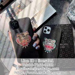 Kenzo ケンゾー アイフォン11pro maxケース 刺繍型 虎頭 iphone11pro/11スマホケース 個性