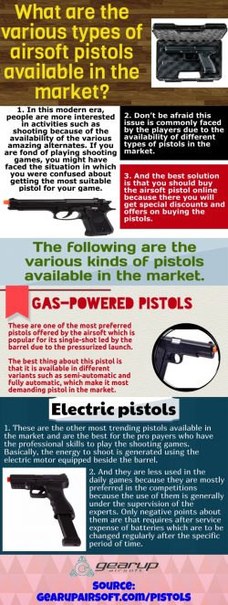 Airsoft pistol is small but can be highly protective
