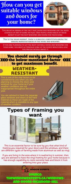 Get energy-efficient doors and windows installed at your home