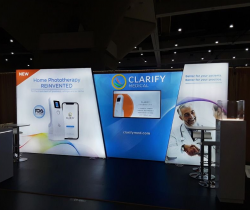 Backlit Trade Show Displays and Freestanding Lightbox Exhibits
