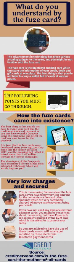 Fuze cards-Easily accessible through the application