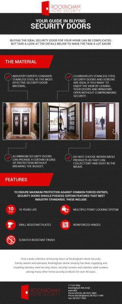 Guide in Buying Security Doors