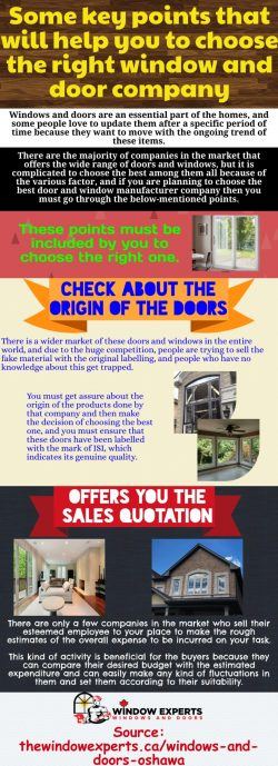 Best replacements for the doors and windows