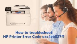 How to Troubleshoot HP error code oxc4eb827f?