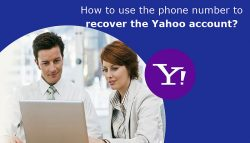 How to use the phone number to recover the Yahoo account?