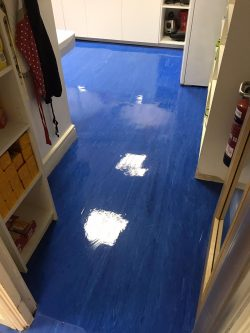 Marmoleum Floor Cleaning