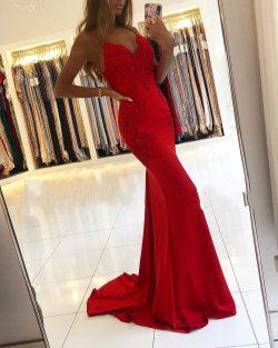 Designer Abendkleider Lang Rot | Abiballkleider Günstig Online
