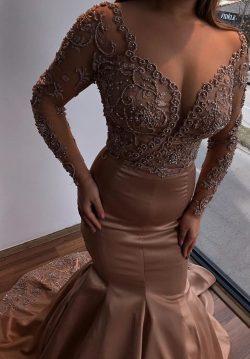 Luxus Abendkleider Mit Ärmel | Abendmoden Lang Günstig