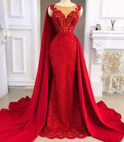 Fashion Abendkleider Lang Rot | Abiballkleider Lang Glitzer Spitze