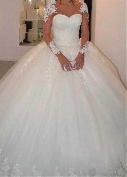 Designer Brautkleider Prinzessin | Hochzeitskleider mit Ärmel