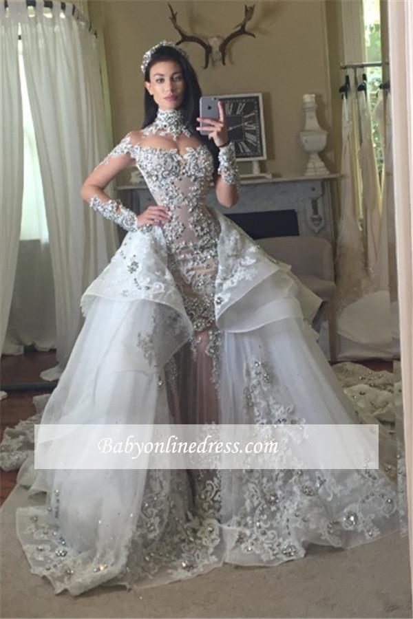 Luxus Brautkleider A linie | Hochzeitskleider Mit Ärmel