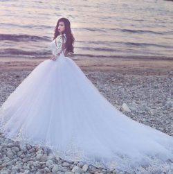 Modern Brautkleider A Linie | Hochzeitskleider Lange Ärmel