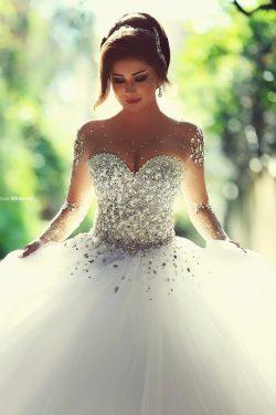 Designer Brautkleider Mit Ärmel | Luxus Hochzeitskleider Prinzessin