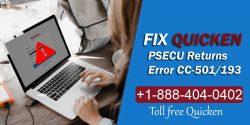 PSECU Returns Error CC-501/193 – Contact Quicken Customer Service
