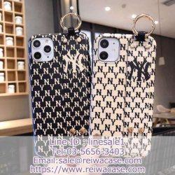 ブランド NYY iphone11 ケース ハンドベルト付き