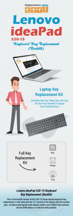 Buy Genuine Lenovo Ideapad 320-15 Replacement Laptop Keys Online