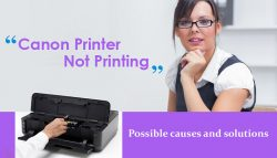 Canon printer not printing:Possible causes and solutions