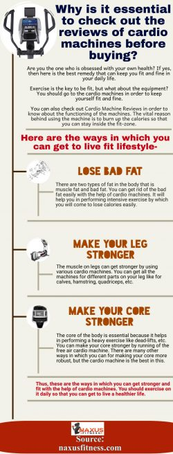 Reasons due to which you can come to use the cardio machine for your health