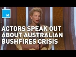 Celebrities Use Golden Globes to Speak Out About Australia Bushfires | Mashable News – YouTube